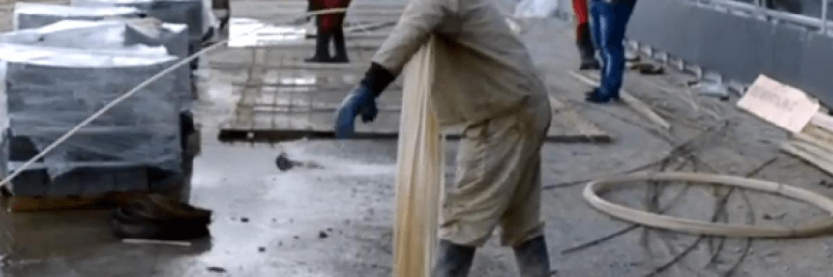 Размотка стеклопластиковой арматуры