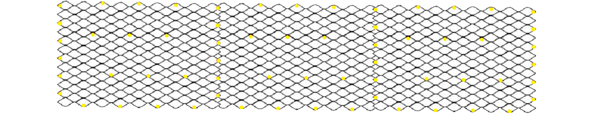 Схема крепежа при укладке георешетки горизонтально