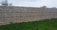 Забор из сварных габионов 3д